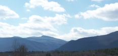 photo by © Bill Ross, 2010 – the eastern Catskills: High Peak, Round Top, South Mtn. (from left)
